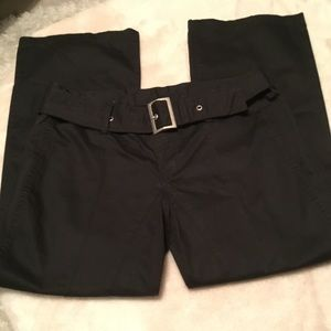 Diesel Belted Black Cropped Pants - Size 28